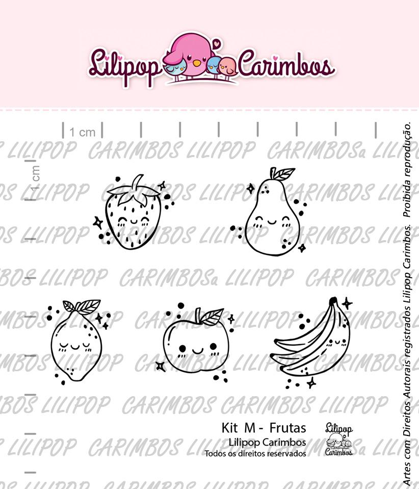 "Cartela de Carimbos M - ""Frutas"" - Lilipop Carimbos  - Lilipop carimbos"