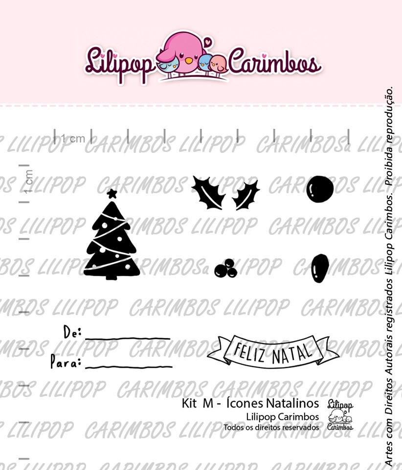"""Cartela de Carimbos M - """"Ícones Natalinos"""" - Lilipop Carimbos (Coleção Natal 2020)  - Lilipop carimbos"""