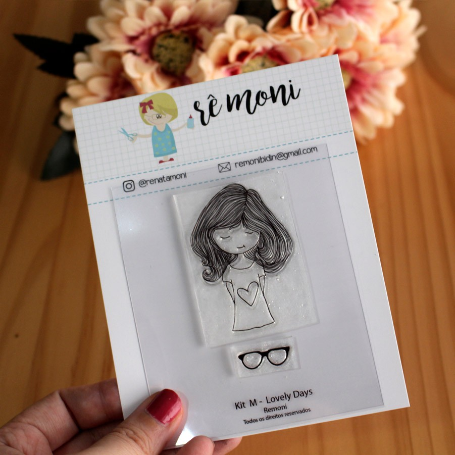 Kit de Carimbos M - Lovely Days - Remoni