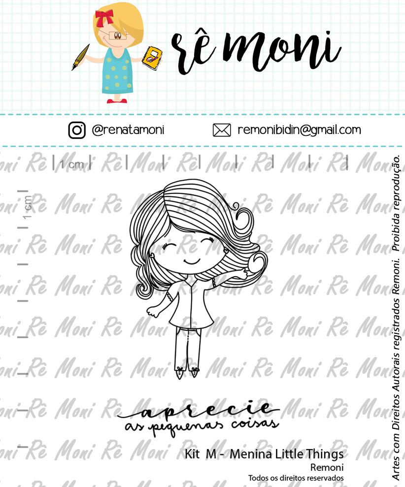 Kit de Carimbos M - Menina Little Things - Remoni