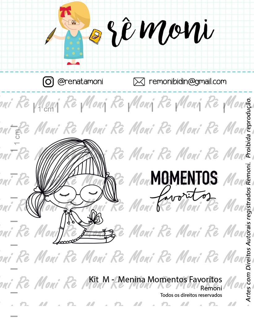 """Cartela de Carimbos M - """"Menina Momentos Favoritos"""" - Remoni  - Lilipop carimbos"""