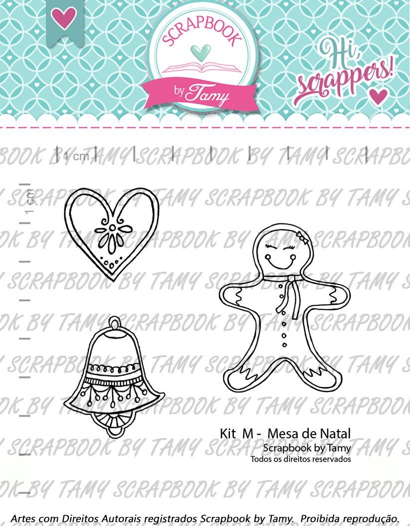 "Cartela de Carimbos M - ""Mesa de Natal"" - Scrapbook by Tamy (Coleção Natal 2020)  - Lilipop carimbos"