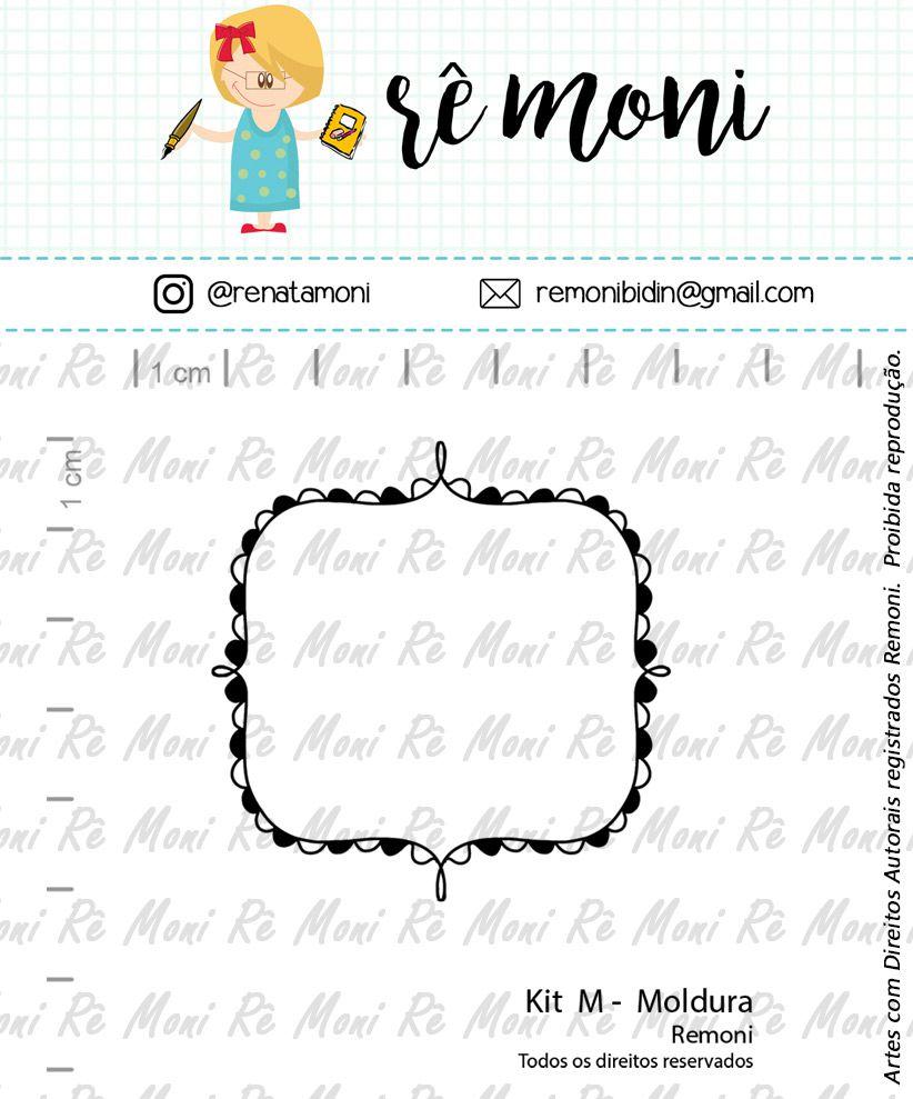 Kit de Carimbos M - Moldura (Remoni)