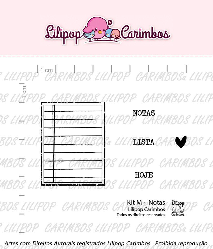 Kit de Carimbos M - Notas - Lilipop Carimbos