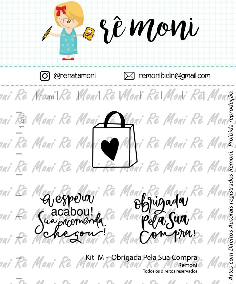 Kit de Carimbos M - Obrigada pela sua compra - Remoni