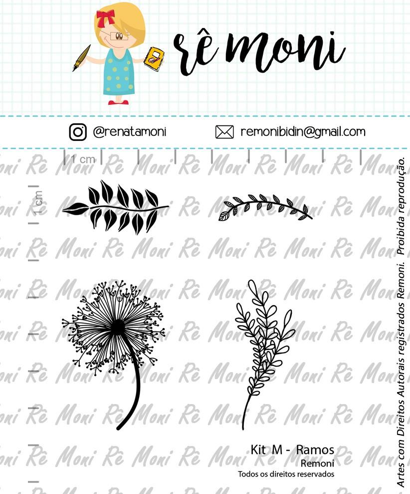 Kit de Carimbos M - Ramos - Remoni