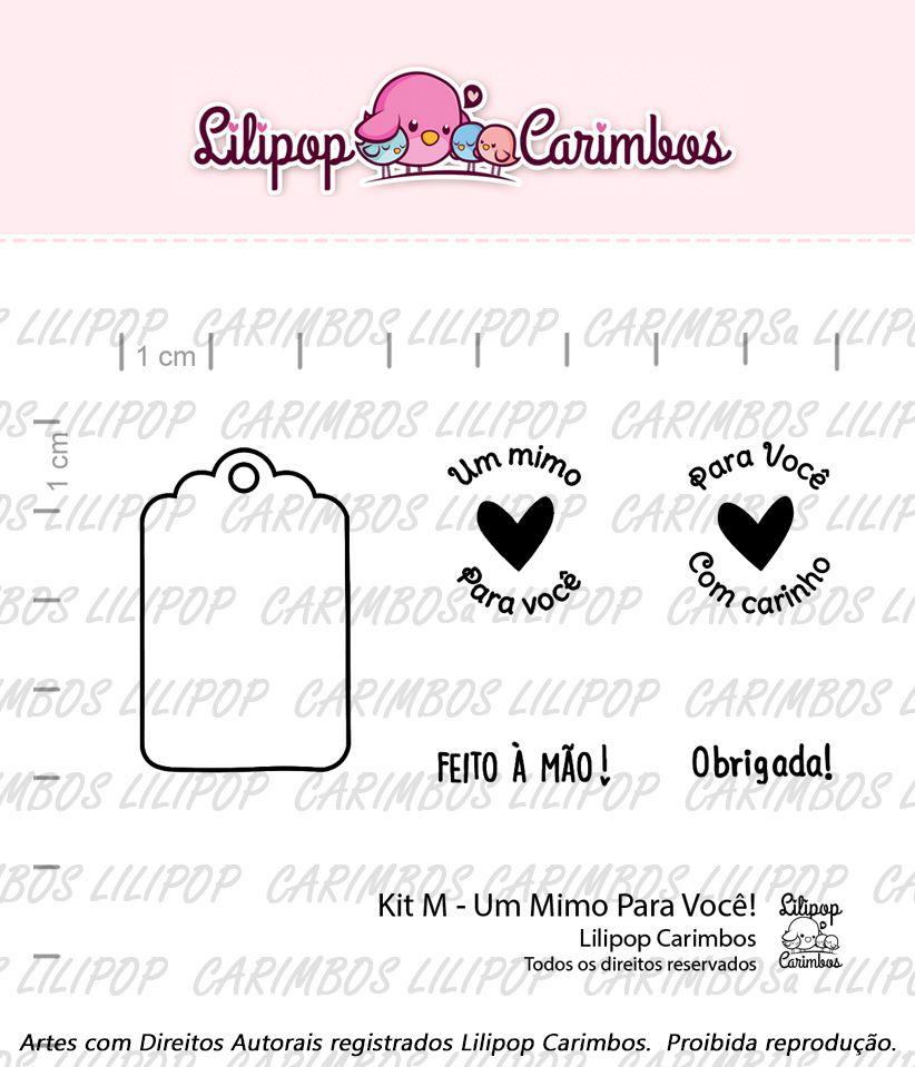 """Cartela de Carimbos M - """"Um Mimo Para Você"""" - Lilipop Carimbos  - Lilipop carimbos"""