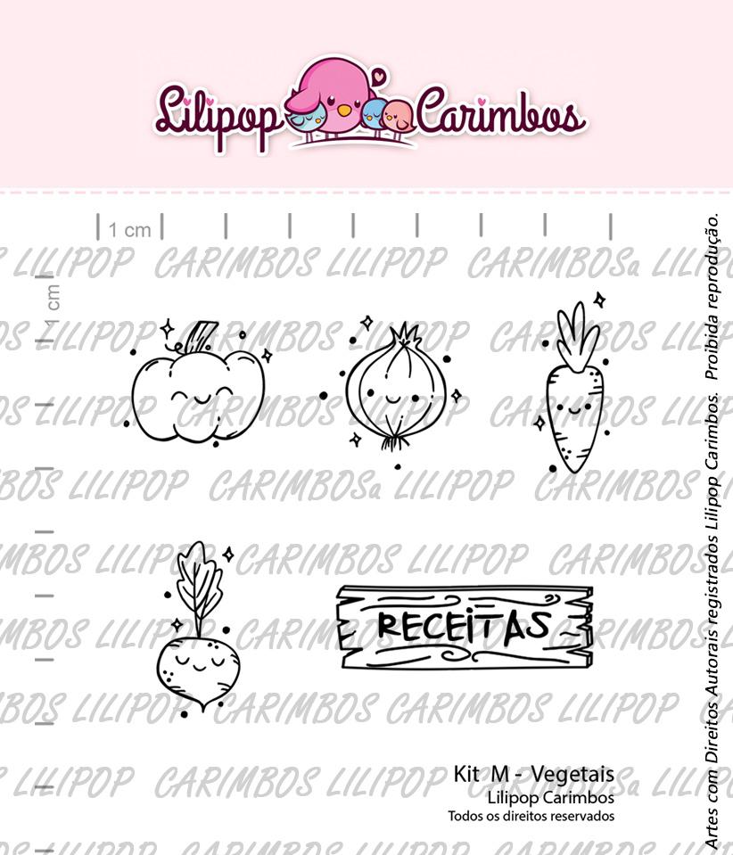 """Cartela de Carimbos M - """"Vegetais"""" - Lilipop Carimbos  - Lilipop carimbos"""