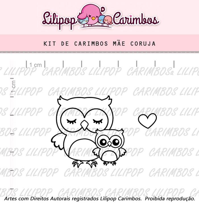 Kit de Carimbos - Mãe Coruja (LILIPOP CARIMBOS)