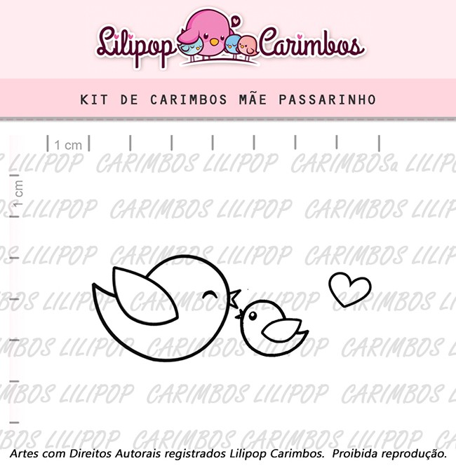 Kit de Carimbos - Mãe Passarinho
