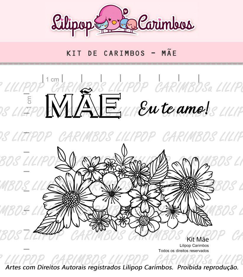 Kit  de Carimbos - Mães