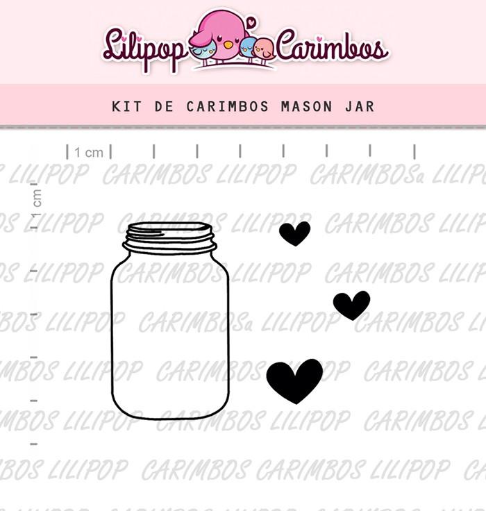 Kit de Carimbos - Mason Jar (LILIPOP CARIMBOS)