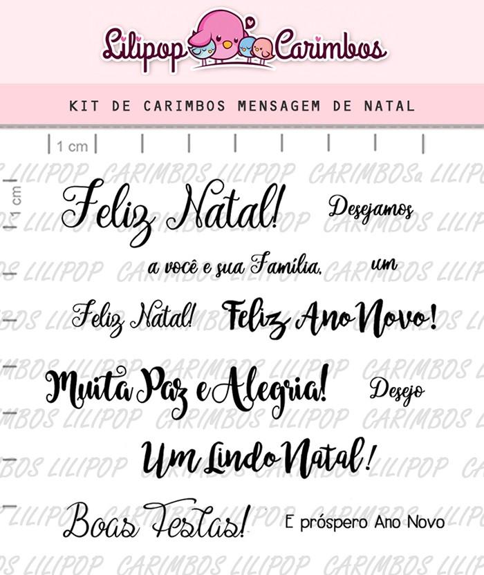 Kit de Carimbos - Mensagem de Natal (LILIPOP CARIMBOS)