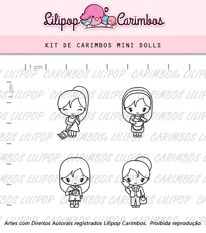 Kit de Carimbos - Mini Dolls