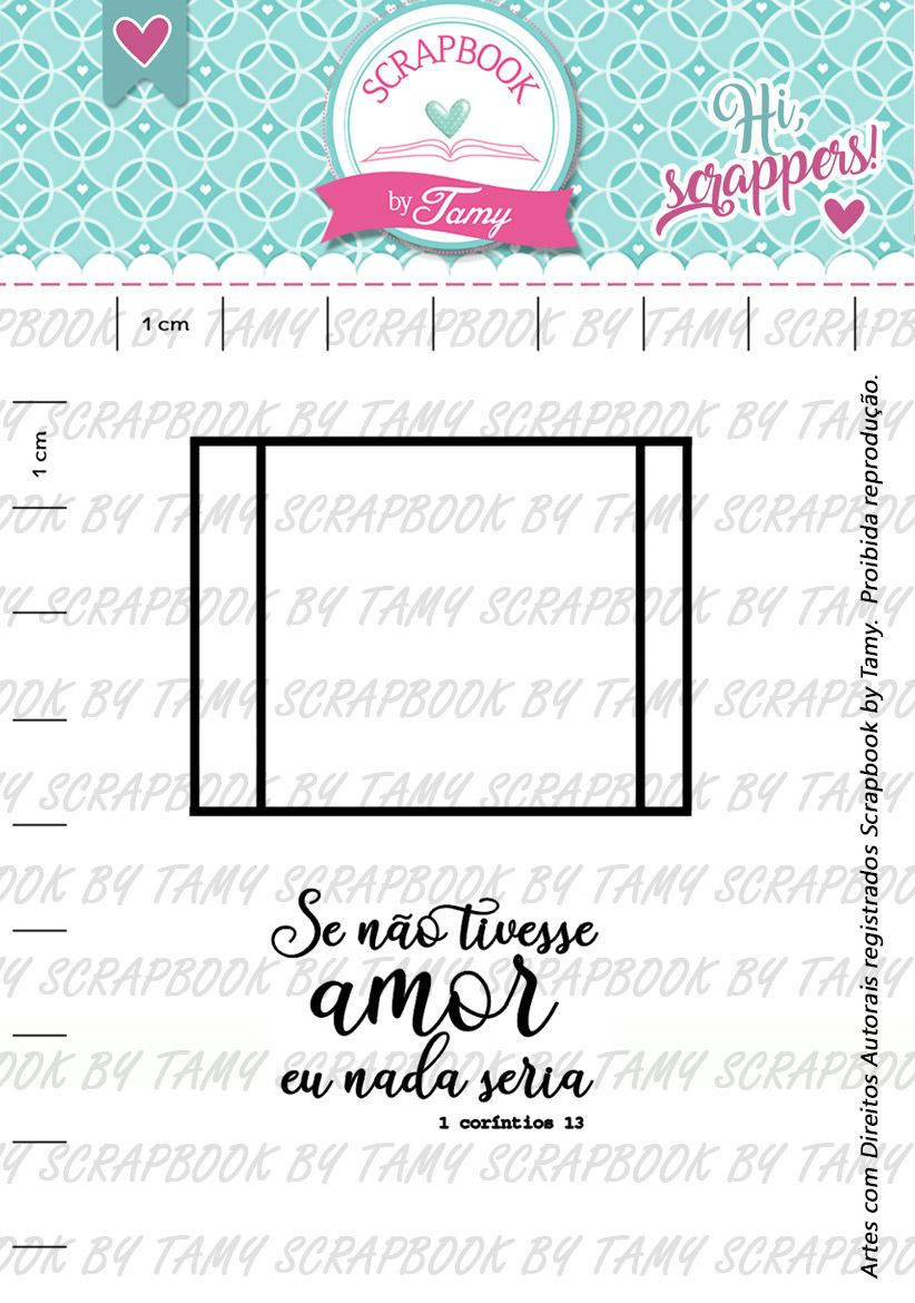 Kit de Carimbos -  Moldura (Tamy) - Scrapbook by Tamy