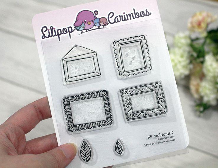 Kit  de Carimbos - Molduras 2  LILIPOP CARIMBOS