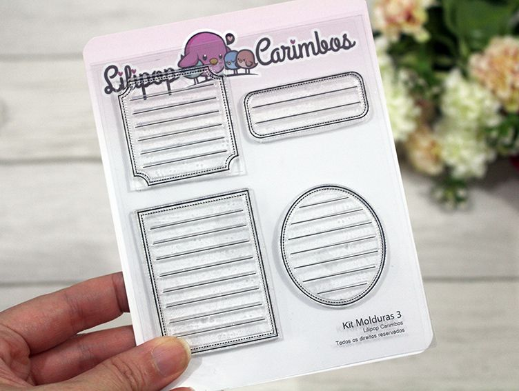 Kit  de Carimbos - Molduras 3  LILIPOP CARIMBOS