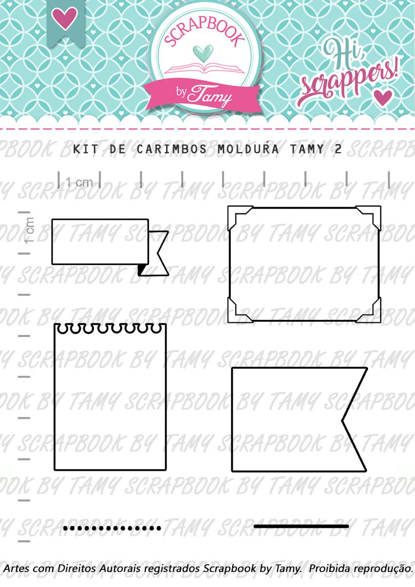 Kit de Carimbos - Molduras Tamy - Scrapbook by Tamy