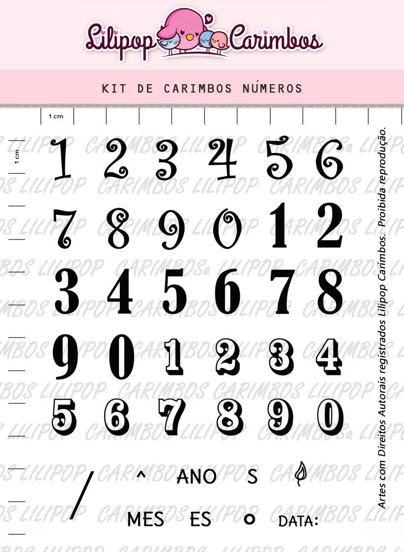 Kit de Carimbos - Números