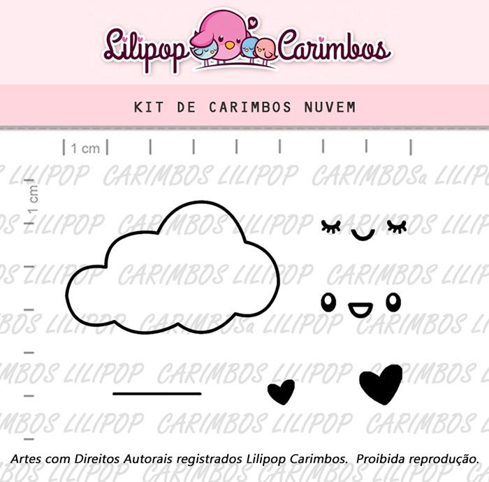 Kit de Carimbos - Nuvem (LILIPOP CARIMBOS)