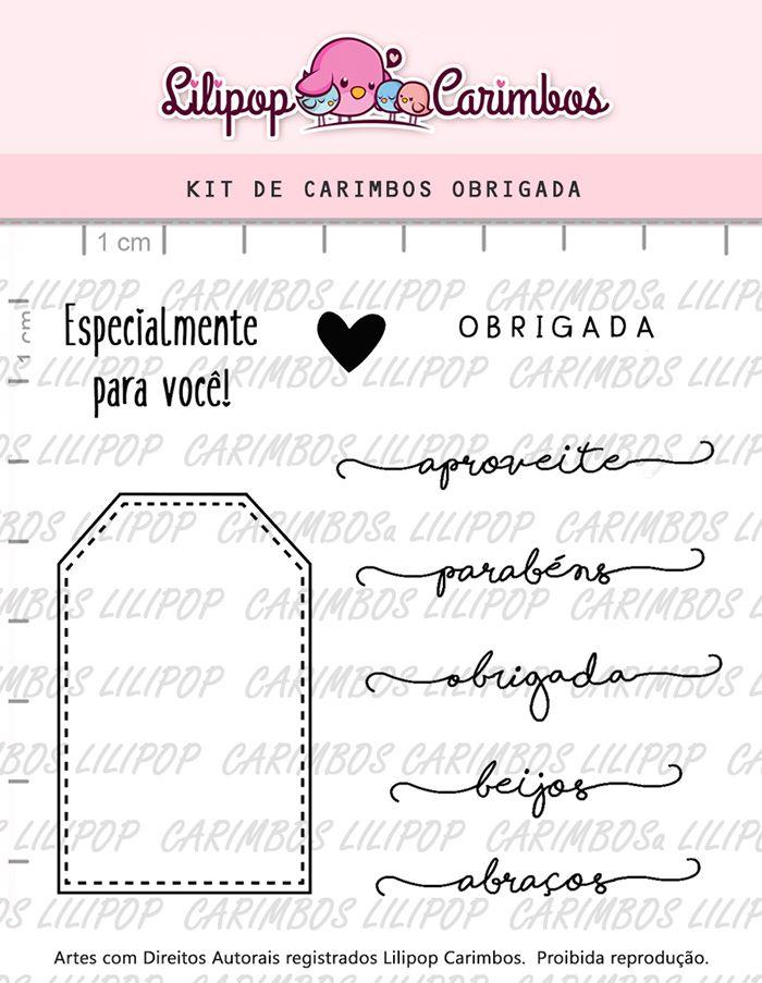 Kit de Carimbos - Obrigada