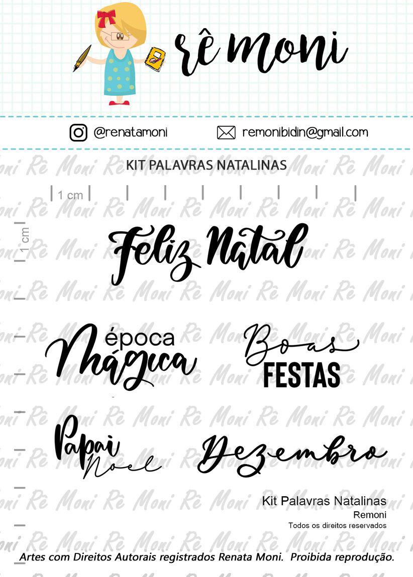 Kit de Carimbos - Palavras Natalinas - Remoni