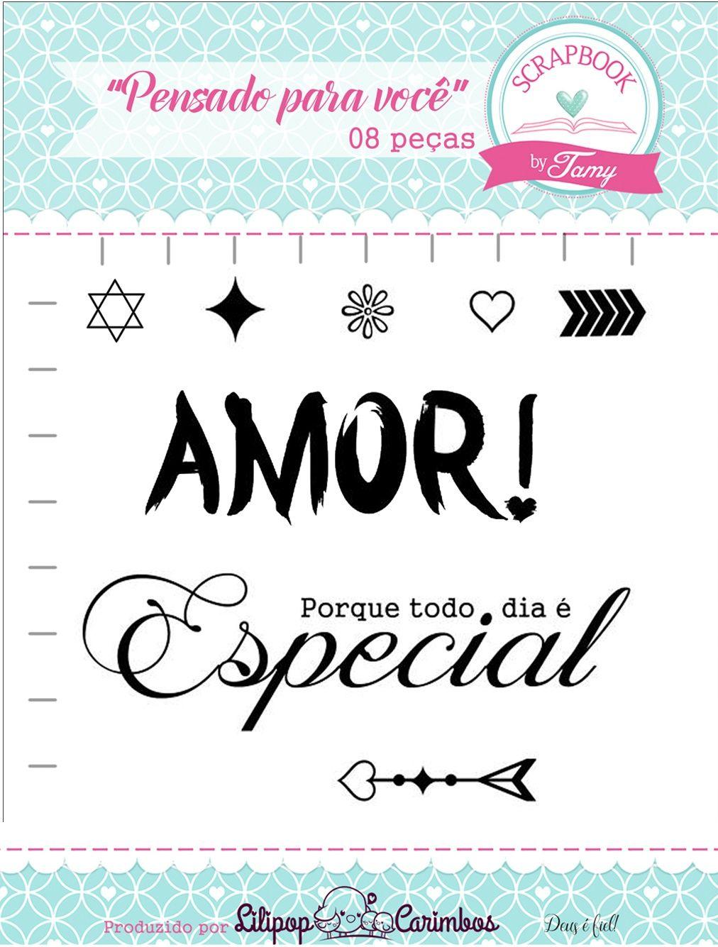 Kit de Carimbos - Pensado para você - Scrapbook by Tamy