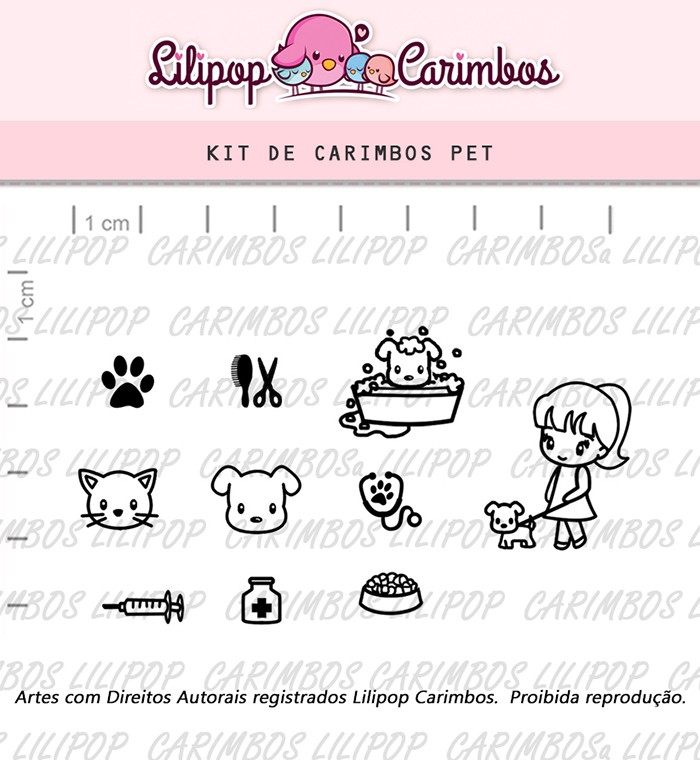 Kit de Carimbos - Pet