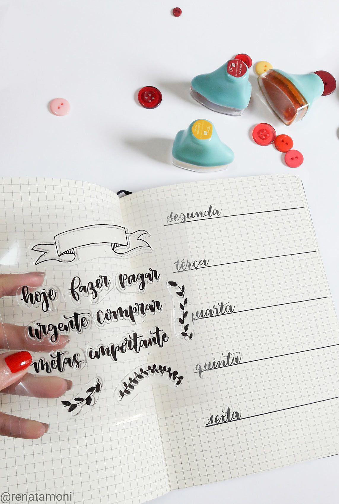 Kit de Carimbos - Planejando - Remoni