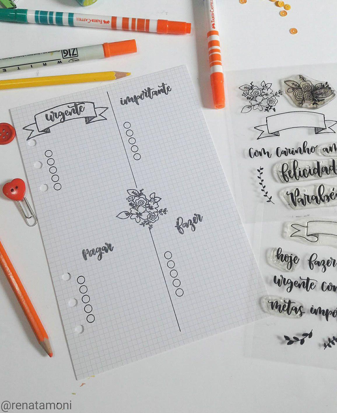 Kit de Carimbos - Planejando