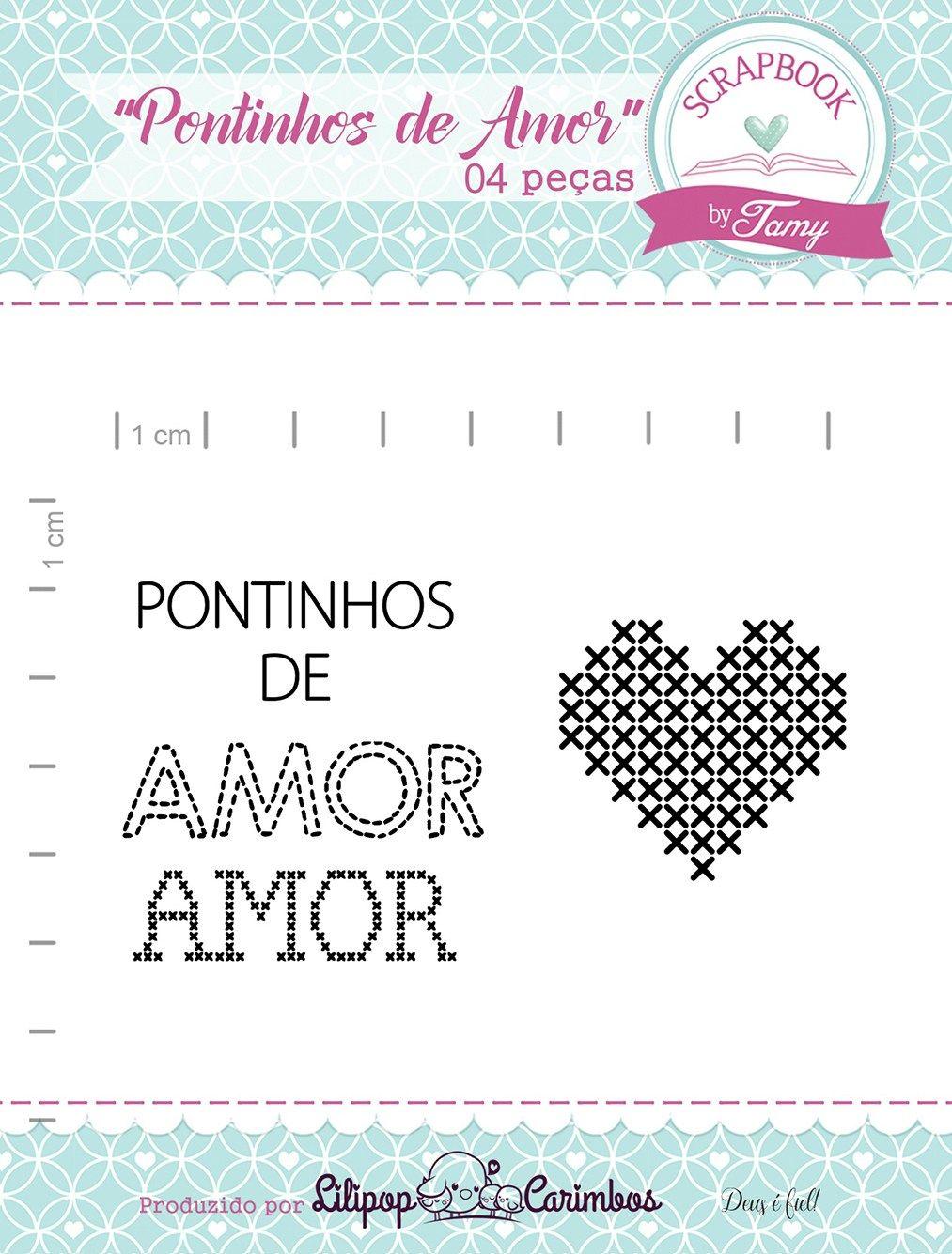 Kit de Carimbos - Pontinhos de Amor