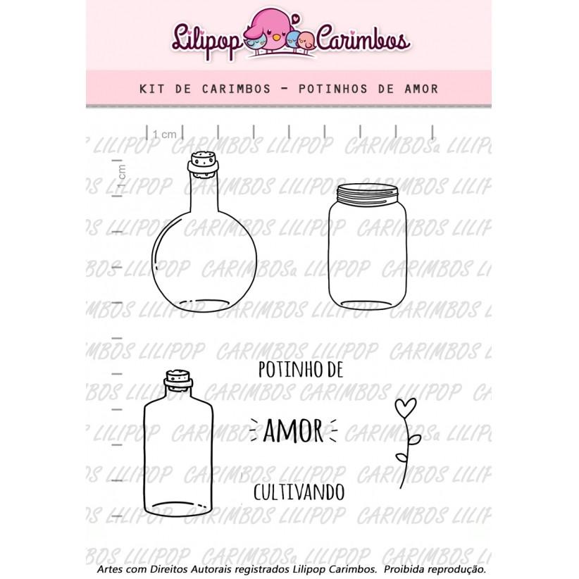 Kit  de Carimbos - Potinho de Amor LILIPOP CARIMBOS