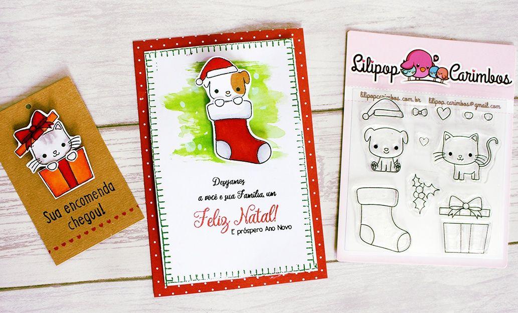 Kit de Carimbos - Presente de Natal (LILIPOP CARIMBOS)