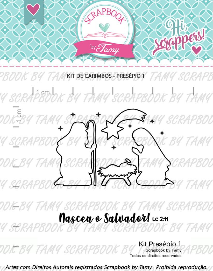 Kit de Carimbos - Presépio 1 - Scrapbook by Tamy