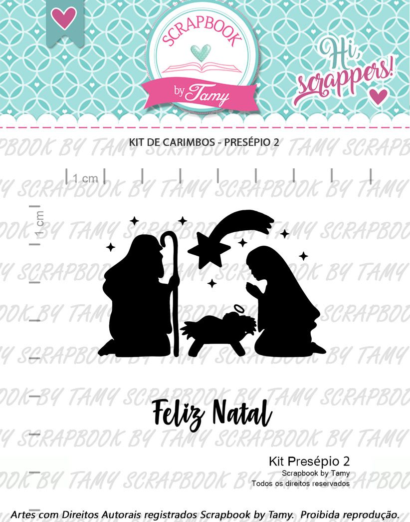 Kit de Carimbos - Presépio 2 - Scrapbook by Tamy