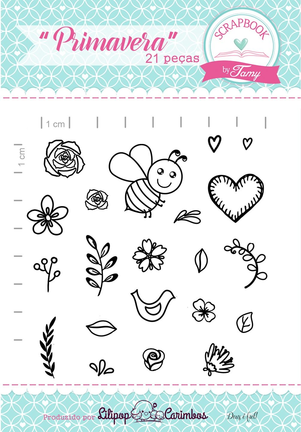 Kit de Carimbos - Primavera - Scrapbook by Tamy