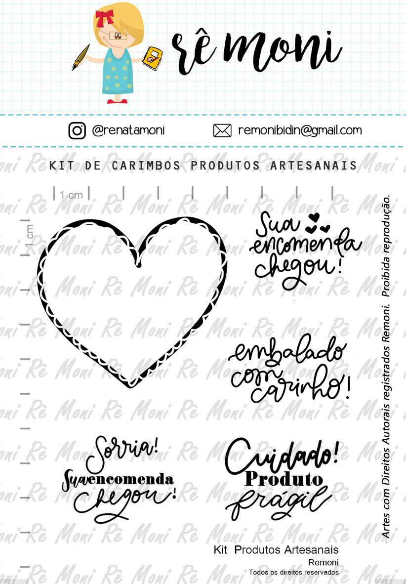 Kit de Carimbos - Produtos Artesanais - Remoni