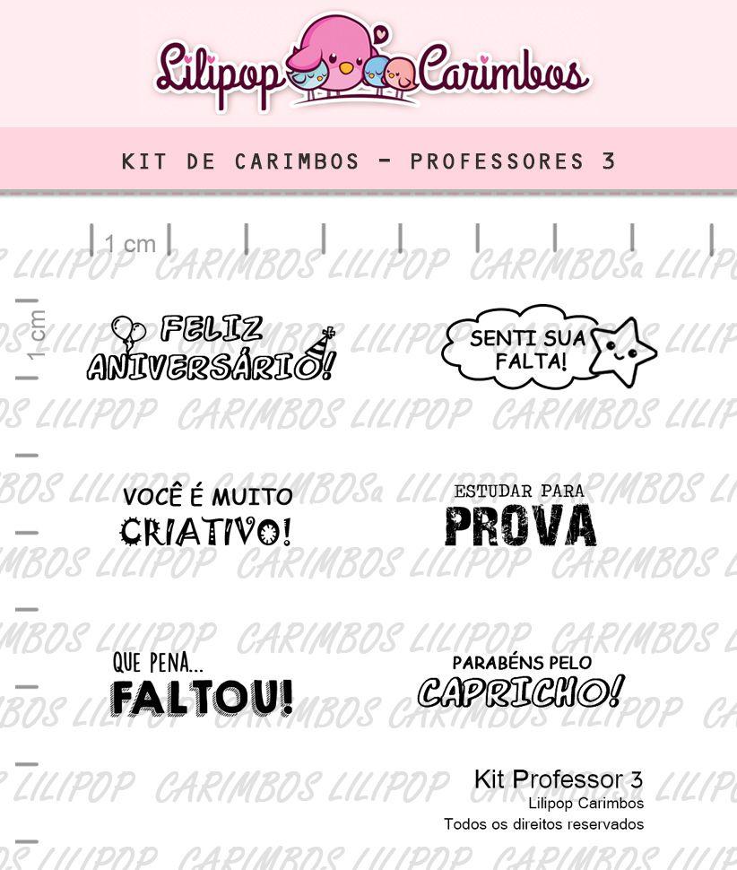 Kit  de Carimbos - Professor 3 (LILIPOP CARIMBOS)