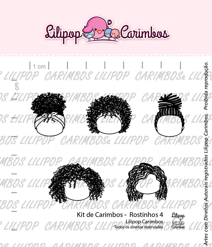 """Cartela de Carimbos - """"Rostinhos 4"""" - LILIPOP CARIMBOS  - Lilipop carimbos"""