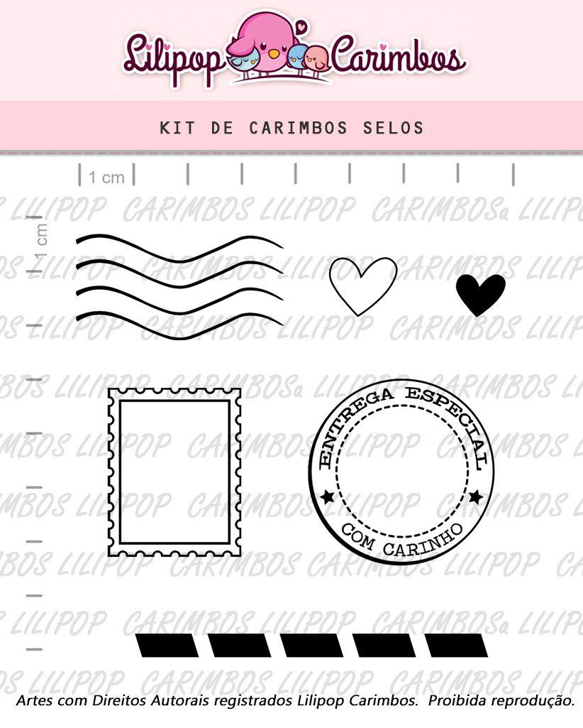 Kit de Carimbos - Selos (LILIPOP CARIMBOS)