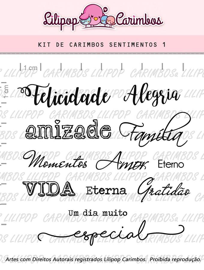 Kit de Carimbos - Sentimentos 1 (LILIPOP CARIMBOS)