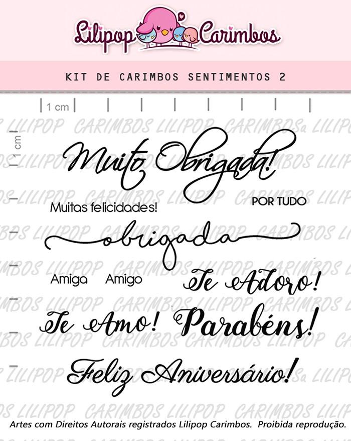 Kit de Carimbos - Sentimentos 2 (LILIPOP CARIMBOS)