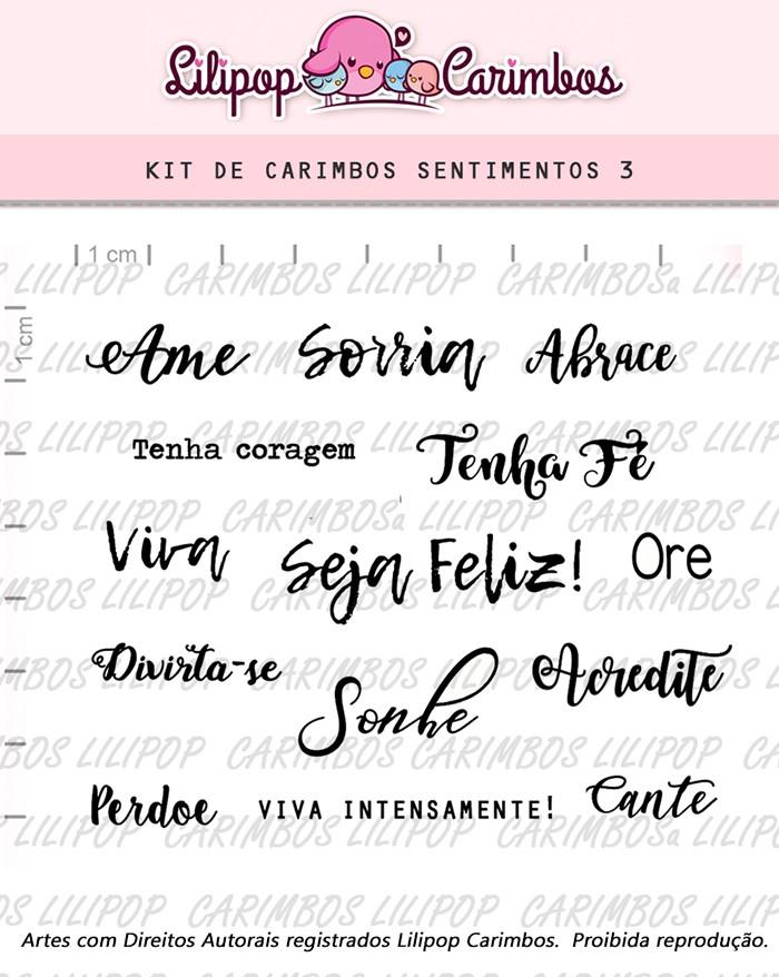Kit de Carimbos - Sentimentos 3 (LILIPOP CARIMBOS)