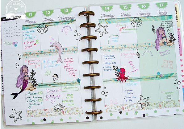 Kit de Carimbos - Sereia - Scrapbook by Tamy