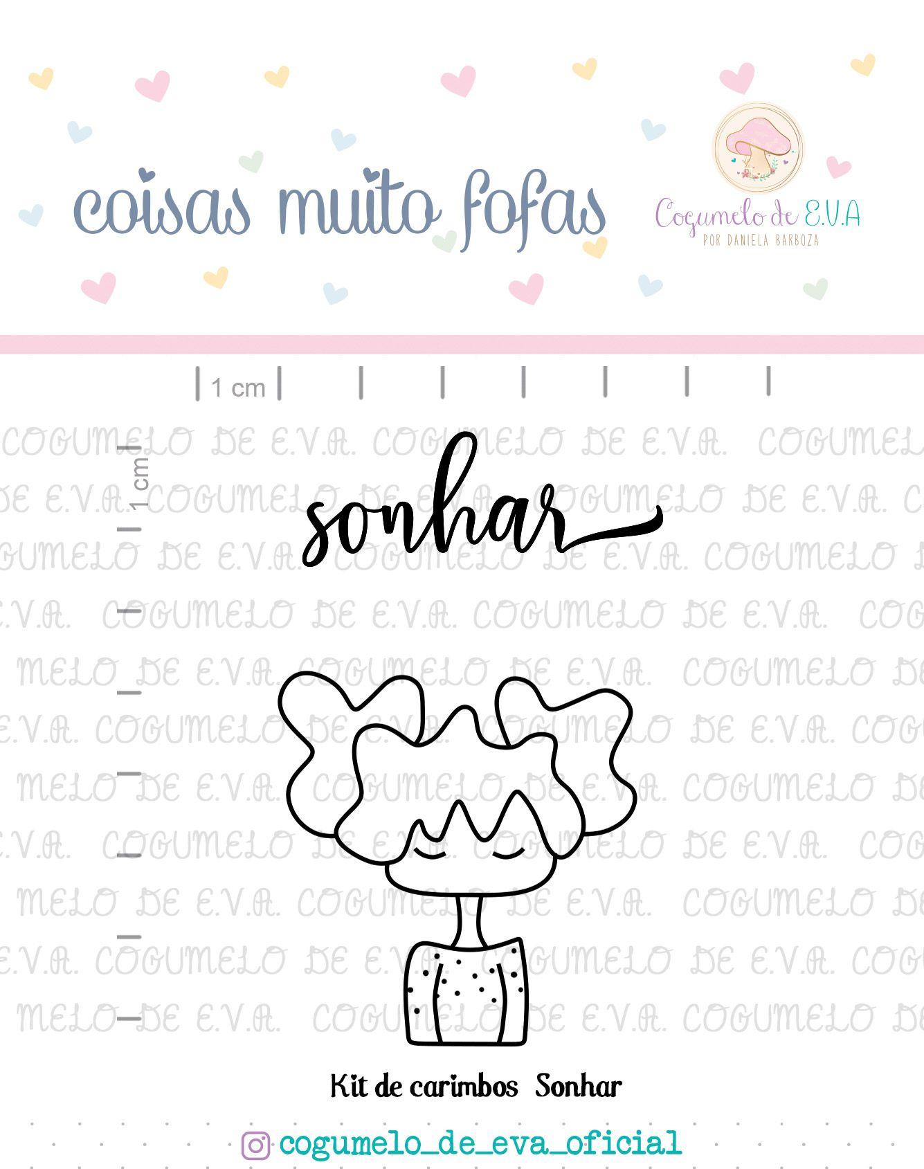 Kit de Carimbos - Sonhar - Cogumelo de E.V.A.
