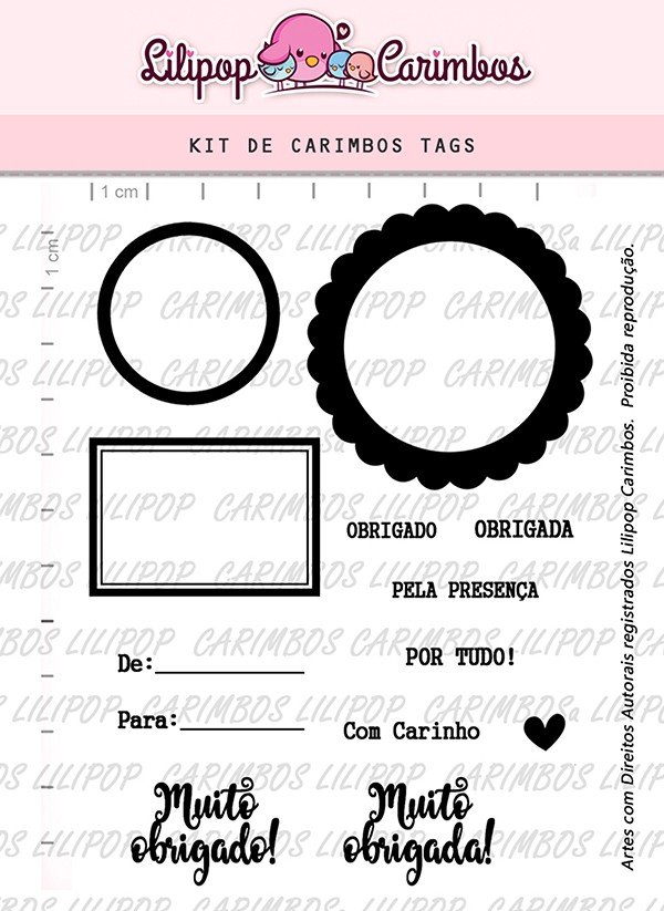 Kit de Carimbos - Tags