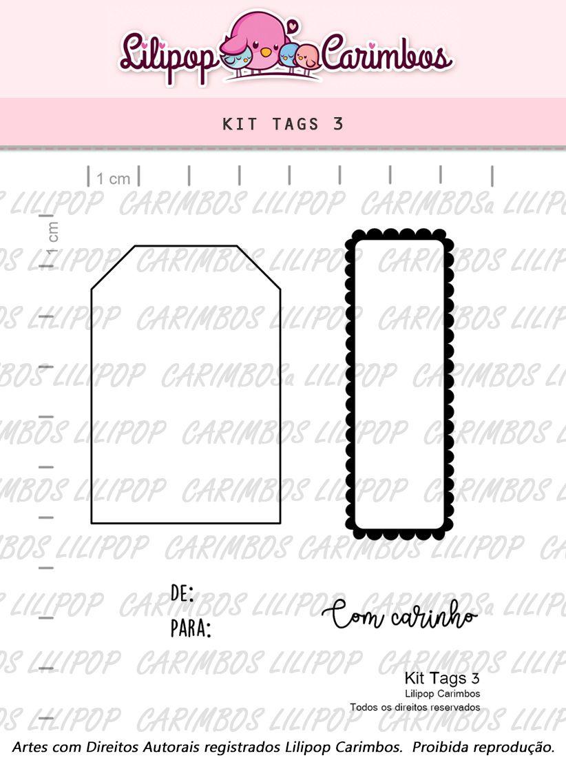 Kit  de Carimbos - Tags 3 - Lilipop Carimbos