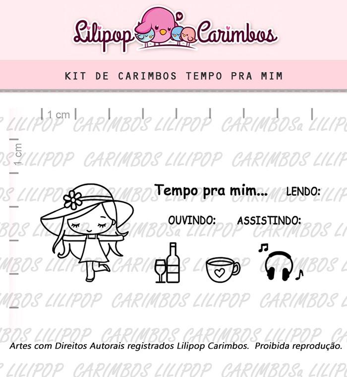 Kit de Carimbos - Tempo pra mim
