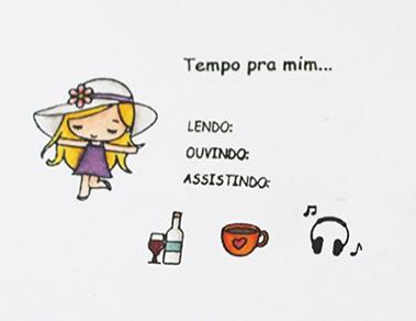 Kit de Carimbos - Tempo pra mim (LILIPOP CARIMBOS)
