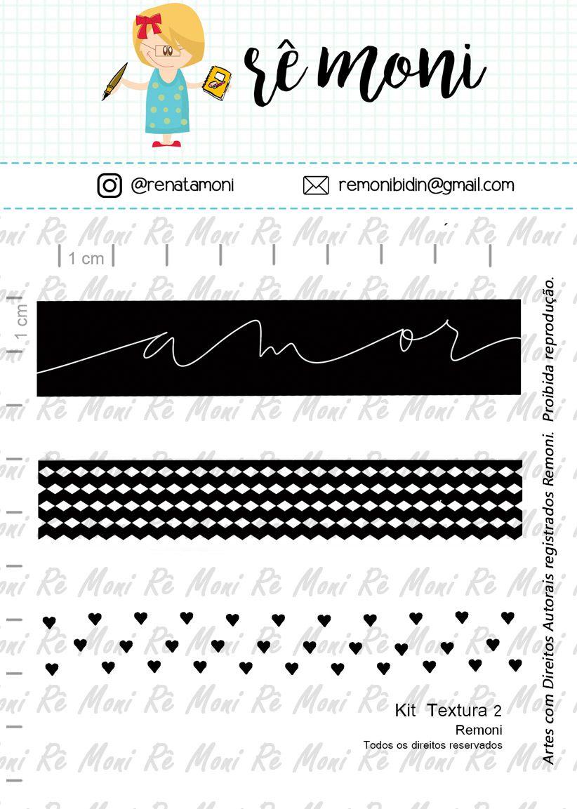 Kit de Carimbos - Textura 2 -  Remoni